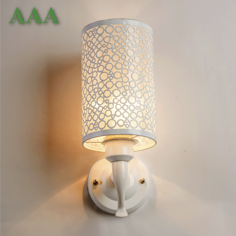 Фотография High quality wall lamp indoor lighting bedside lamps wall lights for home Garden style Warm white 220V