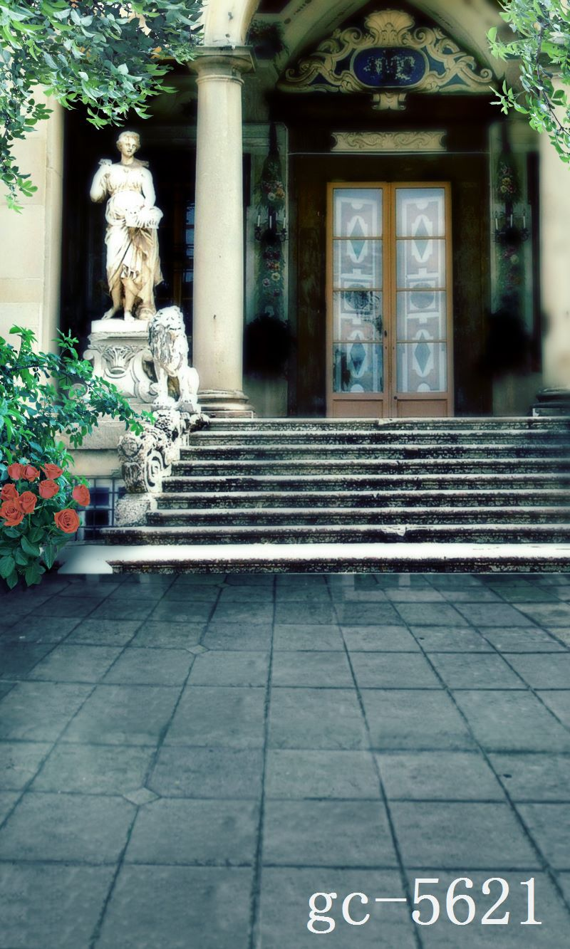 Фотография 600CM*300CM(20ft*10ft) The stone steps statue vinly phoptography backdrop background for photo studio 5621