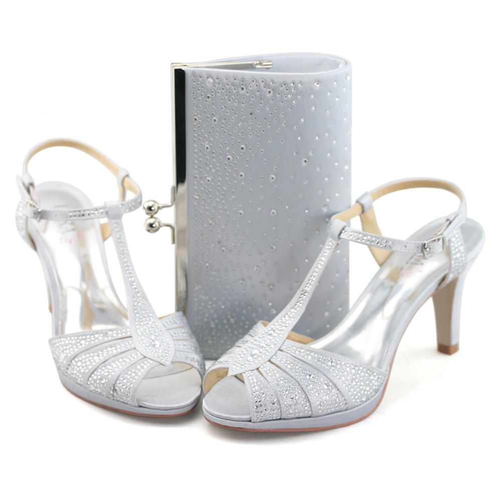 LARA's ladies 3.5'' high heel sandals wedding shoes with ...
