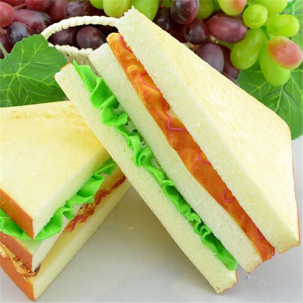 Buy artificial sandwich 1 pcs simulation for Artificial bread decoration