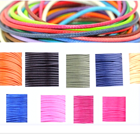 1MM 10 meters/piece  diameter Waxed Thread Cotton Cord String Strap Wholesale Necklace Rope Bead Fit shamballa Bracelet<br><br>Aliexpress