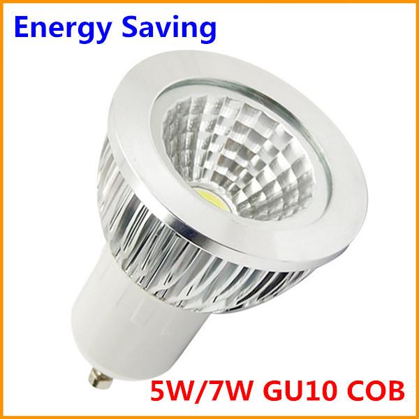 5X Energy Saving LED GU10 COB Dimmable 5W 7W COB GU10 Spotlight Warm White Cold White 220V 110V CE RoHS ETL(China (Mainland))