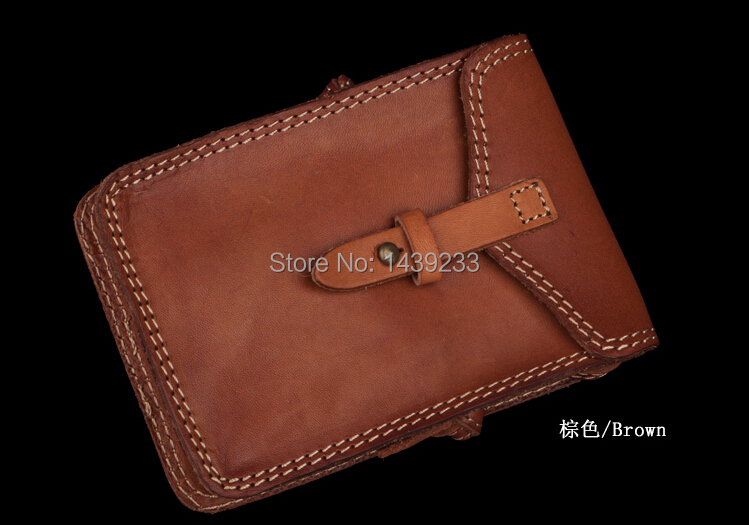 Antique style genuine leather messenger bags men cross body leather bag small size vintage bag(China (Mainland))