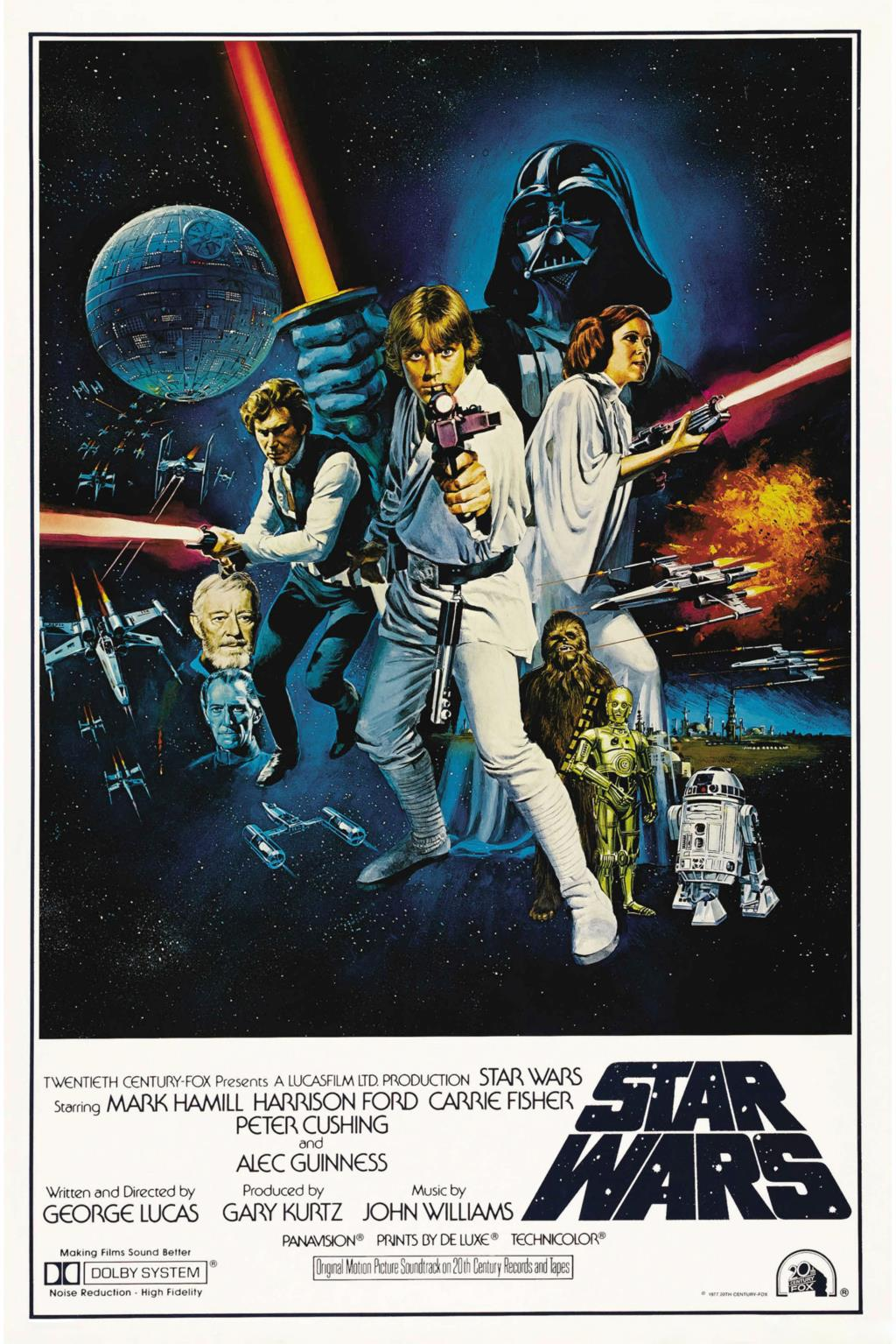 Star Wars Classic Movie Poster Silk poster Home Decorative painting -Picture Gift Harrison Ford Mark Hamill - Fabric & Canvas Printing Store store