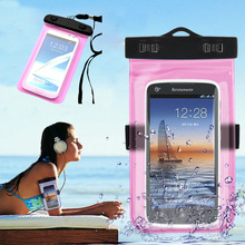 Mobile Phone Waterproof Bag Case for iPhone 5 5s SE 5c 6 6s Plus Underwater Water Proof cover for Samsung S6 S7 edge Note 5(China (Mainland))