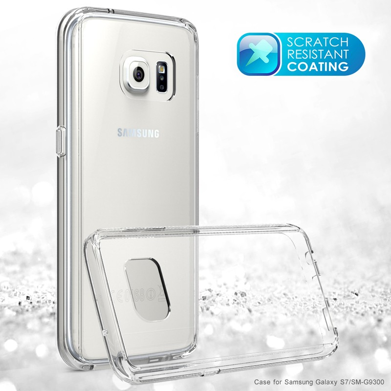 For Galaxy S7 edge Clear Hard Case Cover for Samsung Galaxy S6 edge Note 7 Clear Hard Acrylic Back Panel + TPU Frame Cover Cases