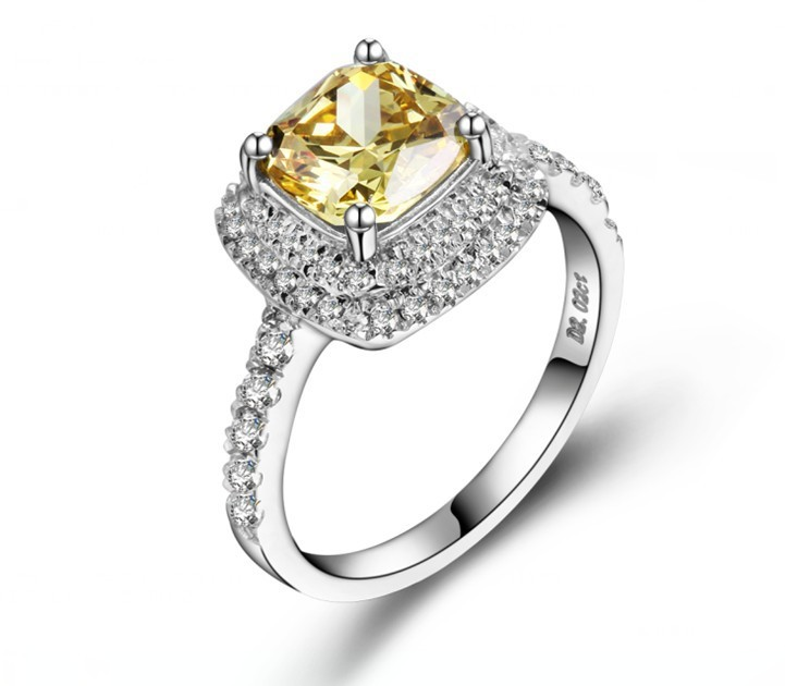 1 Carat Pure Gold 14K Yellow Stone Glorious Synthetic Diamond Wedding Ring For Women Simple Life Style Women Gold Jewelry(China (Mainland))