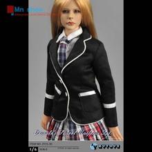 1/6 Scale Phicen Figure Accessory Black School Uniform Set Students Suit Clothes Fit 12″ Action Figure Doll Toys ZYTOYS ZY15-30