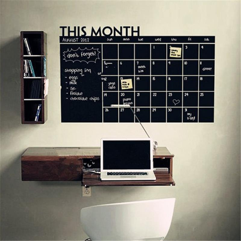 Month bulletin board decorations Blackboard Wall Sticker Vinyl Chalkboard for Home Classroom home Decor office decor Month plan%(China (Mainland))