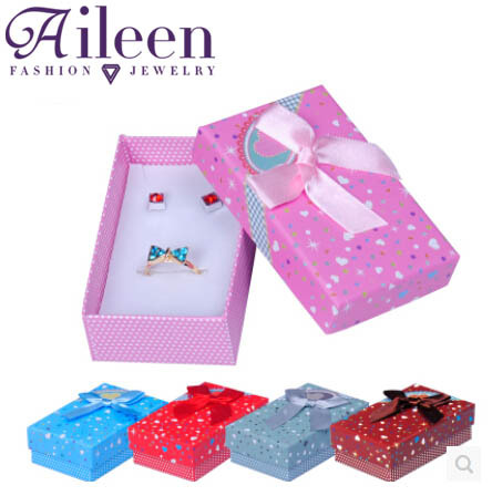 Necklace Earrings Ring Jewelry Box 8*5*2.7 Gift Boxes Jewellery Accessories Packaging,24piece/lot  Wholesale(China (Mainland))