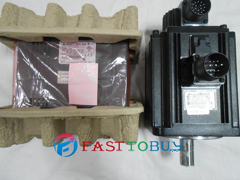Delta CNC 220V 1kW AC Servo Motor Drive Controller kit 4.77NM 2000r/min 130mm ECMA-E11310RS+ASD-A2-1021-L Keyway with 3M Cable(China (Mainland))