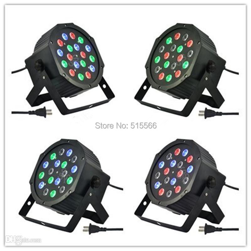 Free shipping 18*3W Led Stage Light High Power RGB Par Light With DMX512 Master Slave Led Flat DJ Equipments Controller(China (Mainland))