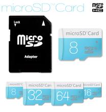Brand New micro sd card 32gb class10 memory storage flash card 16gb 8gb micro sd 128mb free card reader+adapter free shipping(China (Mainland))