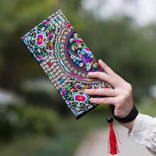 NEW 2016 Wristlet Women Handbag Purse Elegant Handmade Day Clutch Bag National Retro Embroidered Bag with Floral Design(China (Mainland))