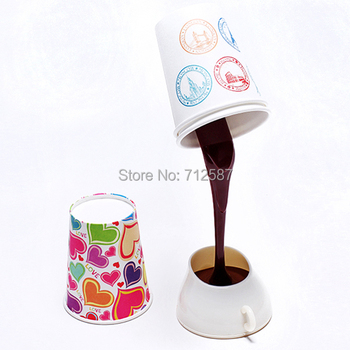 FREE SHIPPING DIY lampshade USB/BATTERY power source LED coffee night light, 8 LED table desk lamp for home decoration.