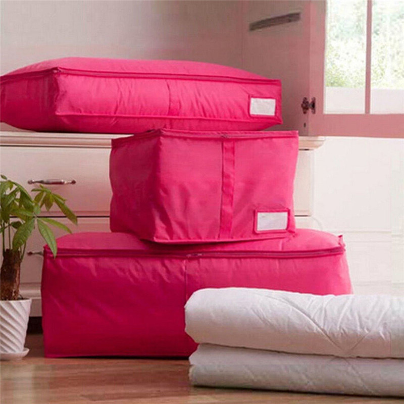 Home Storage Bag Box Clothes Quilt Bedding Duvet Zipped Handles Laundry Pillows Case Free shipping(China (Mainland))