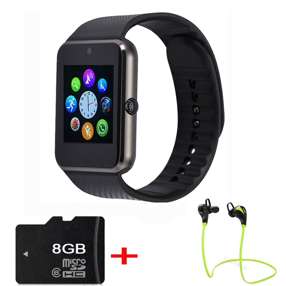 Camera Sim Card For Android Phones lemfo gt08 smart watch clock bluetooth support sim card sync notifier connectivity for apple smartwatch phone ios android os