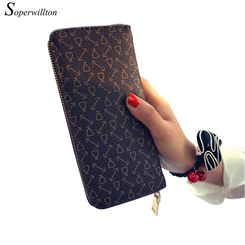 Soperwillton Brand 2016 Long Style Wallet Women Hand Bag Fashion Women's Purse PU Leather Lady Female Wallets #W102(China (Mainland))