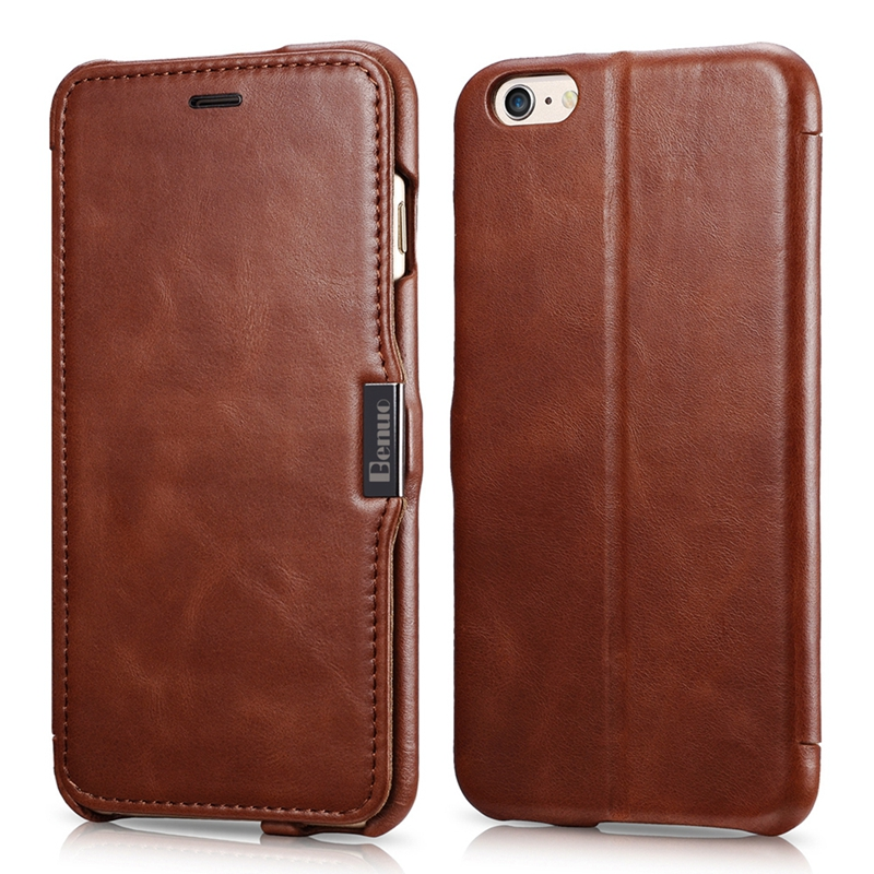 Genuine Leather Wallet Case For iPhone 6 plus 5.5 Inch Phone Bag Cover For iPhone 6 Plus Stand Card Slot Business Luxury Case(China (Mainland))