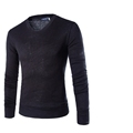 New Spring Men Long Sleeve Fashion Wool T Shirt Brand Clothing Solid Color Casual High elastic