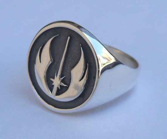 Slavic Ring Star Wars Ring Jedi Order Insignia On Wood Rebel Men Ring Accessories Jewelry Vintage Plated Silver(China (Mainland))