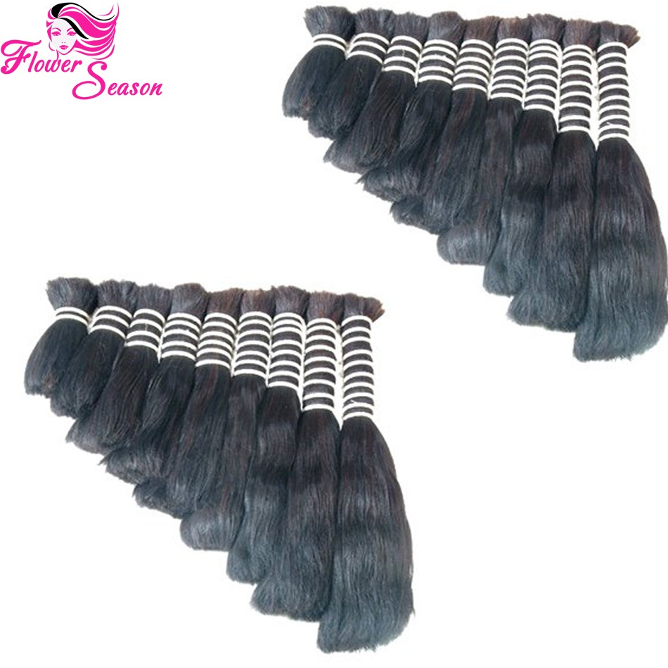 Top Quality Unprocessed Brazilian Virgin Bulk Hair For Braiding Straight Human Braiding Hair Bulk No Weft Fast Shipping