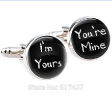 Buy 1 pair Wedding cufflinks,I'm yours,You're mine, loved first mens wedding day accessories,,wedding cuff links mens for $1.42 in AliExpress store