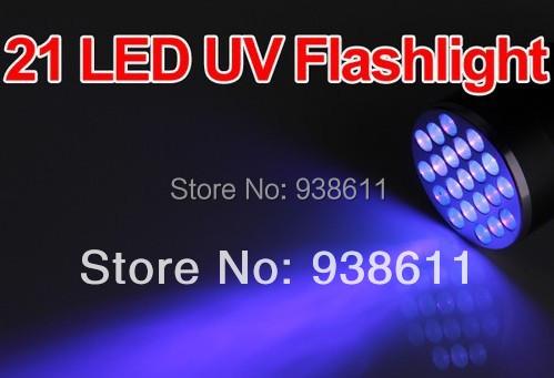 SG Post UV Ultra Violet Blacklight 21 LED Camping Outdoor Light Torch Lamp - Tin Lok Technology Store store