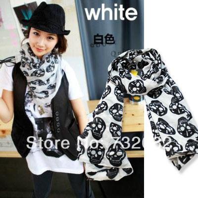 High Quality and Fashion Skull Women Scarf. Cotton&fiber Material E1527(China (Mainland))