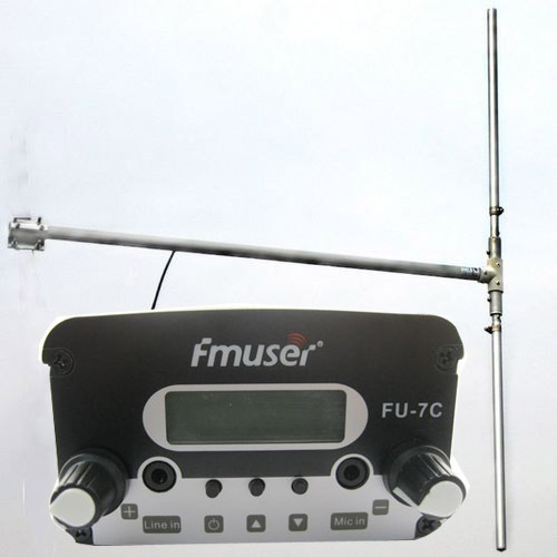7W CZH-7C CZE-7C FU-7C FM broadcast transmitter 76MHz-108MHz + DP100 1/2 wave dipole Antenna + Powersupply Kit cover 1.5KM-3KM(China (Mainland))
