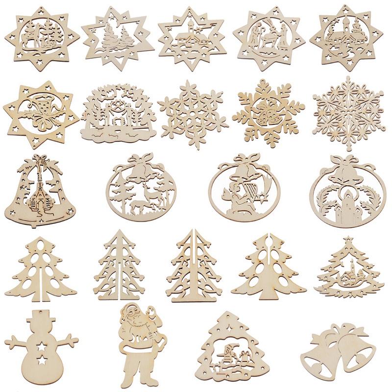 Compra navidad adornos de madera online al por mayor de china mayoristas de navidad adornos de - Adornos navidenos de madera ...