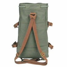 Tourbon Cycling Hiking Climbing Rucksack Bike Pannier Bag Saddle Waterproof Canvas Backpack Daily Leisure Bag
