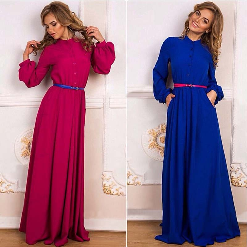 2015 summer dress new style fashion womens summer dress new style sexy club prom maxi long dress long sleeves female dresses(China (Mainland))