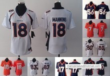 A+++ all stitched Women Lady Denver broncos ,#12 Paxton Lynch #18 Peyton Manning Demaryius Thomas Von Miller #10 #7 #17(China (Mainland))