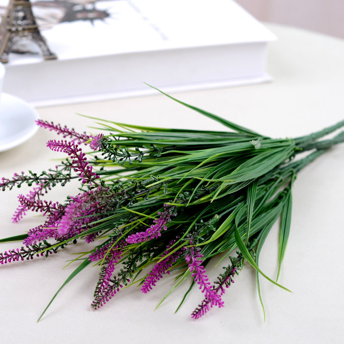 Free Shipping lavender Artificial plants bonesetter money grass eucalyptus gardening supplies plastic flowers wholesale(China (Mainland))