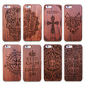 Vintage Carving Real Wood Plastic Case for iPhone 5 5S SE 6 6s 6plus 6s Plus