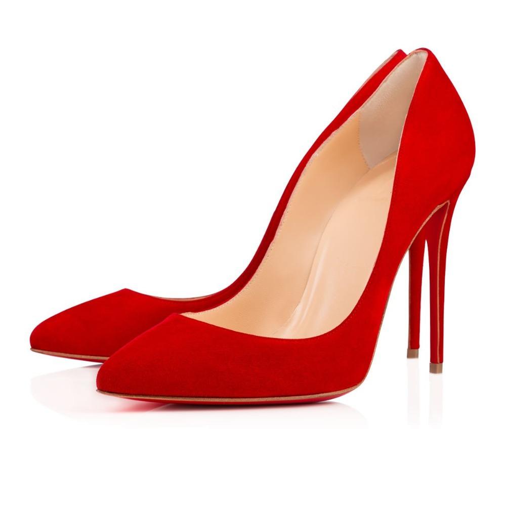 Suede Red Heels