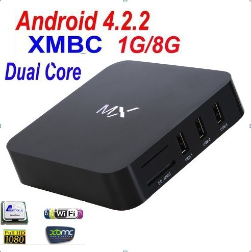 New MX2 Android 4.2.2 Dual Core Smart TV Box XBMC Media Player Network Streamer(China (Mainland))