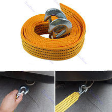 N94   4M 5 Ton Car Tow Cable Heavy Duty Towing Pull Rope Strap Hooks Van Road Recovery(China (Mainland))