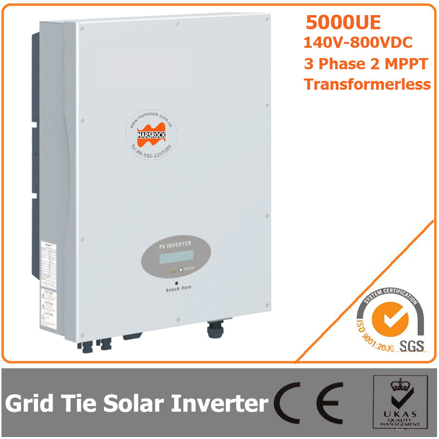 5000W 140V-800VDC Three Phase Transformerless Solar Grid Tie Inverter with CE RoHS Approvals(China (Mainland))