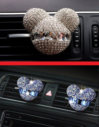 Rhinestone Air Outlet Perfume Ma'am Lovely Exquisite Car Perfume Car Mounted Drilling Perfume Air Conditioner Car Air Freshener(China (Mainland))