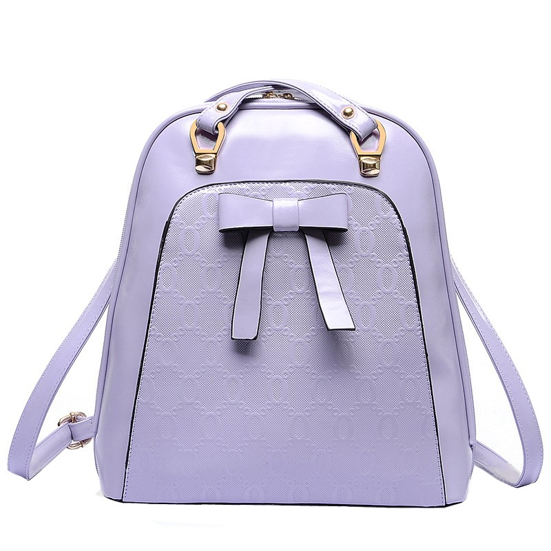 Hot sales 2015 Casual Leather Women Backpack Simple Pure color Large Capacity Women Backpack pu Backpack Brand