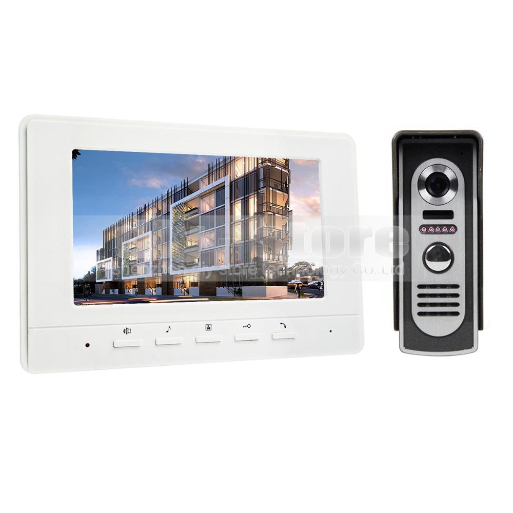 Фотография 7inch Video Intercom Video Door Phone 600TV Line IR Night Vision Outdoor Camera for Home / Office Security System