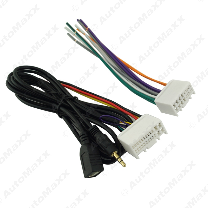 car audio cd stereo wiring harness adapter with usb aux 3 5mm for hyundai ix35 elantra