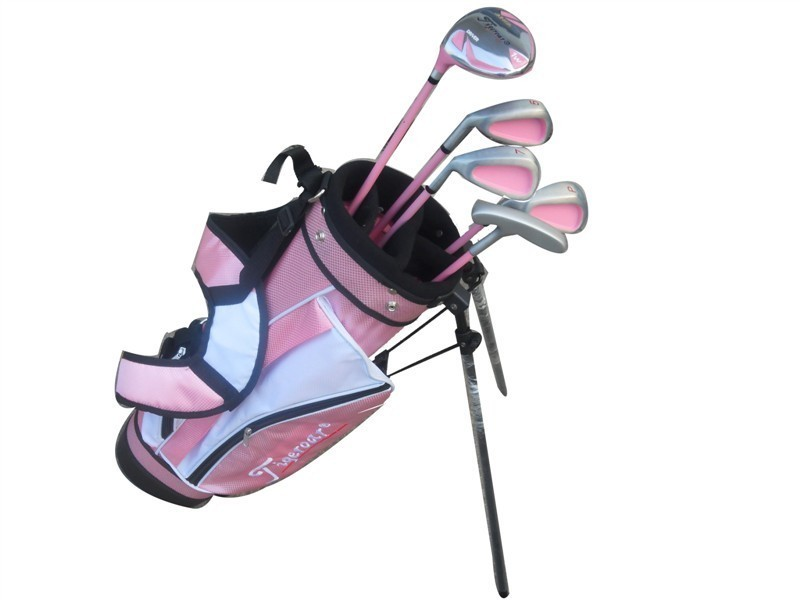 TIGEROAR Quality Goods Left Hand Golf irons driver Club Children Girl Beginner Set Rod 3 Age Group putter wedges left-handed(China (Mainland))