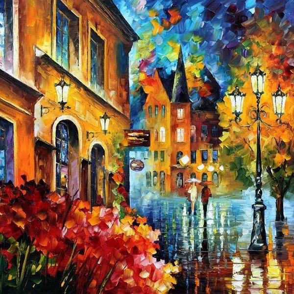 Frameless Pictures Painting By Numbers DIY Digital Oil Painting On Canvas Home Decoration 40x50cm Bustling city(China (Mainland))