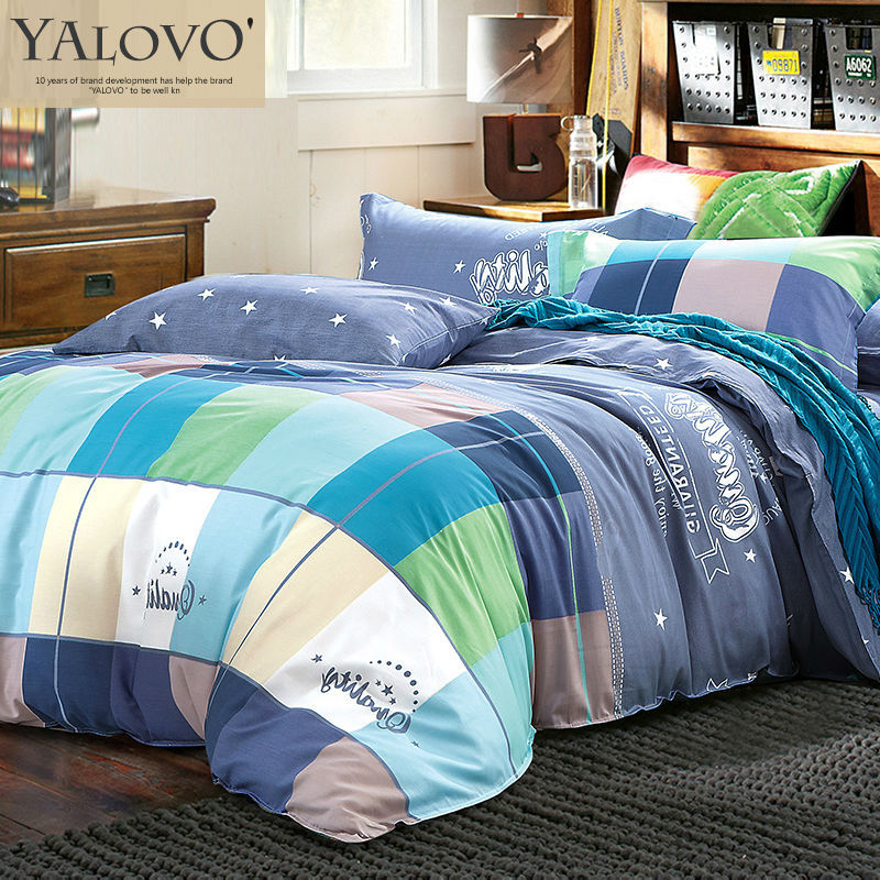 YALOVO Bedding set /Bed linen/Bedding bed set 4pcs Duvet Quilt Duvet Cover Queen king Size Pillow covers Cotton Bed Sheets NH-06(China (Mainland))