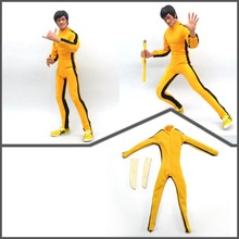 """1/6 Scale Bruce Lee Game of Death Yellow Suit for 12"""" figures free shipping(China (Mainland))"""