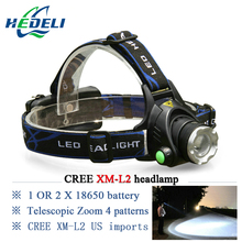 lantern LED headlamp CREE XM-L2 headlight XML T6 waterproof lanterne head lamp frontal head torch 18650 rechargeable battery(China (Mainland))
