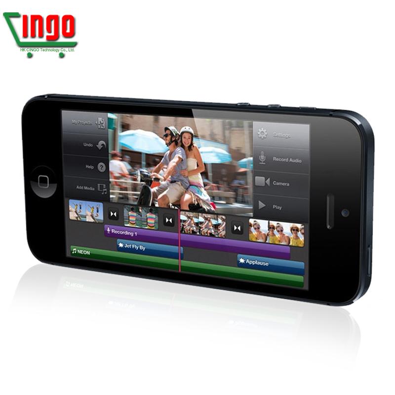 Original Factory Unlocked APPLE iPhone 5 Cell Phone iOS OS Dual core 1G RAM 16GB 32GB ROM 4.0 inch 8MP Camera WIFI GPS 3G Phone(China (Mainland))